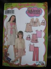 New Simplicity 4559 Girl's Lizzie McGuire Top Skirt Pants Jacket Bag  Sewing Pattern Size 7 - 14