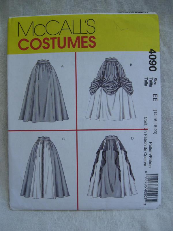 New McCalll's 4090 Misses Skirt Italian Renaissance Medieval Juliet Halloween Costume Sewing Pattern Size 16 18 20