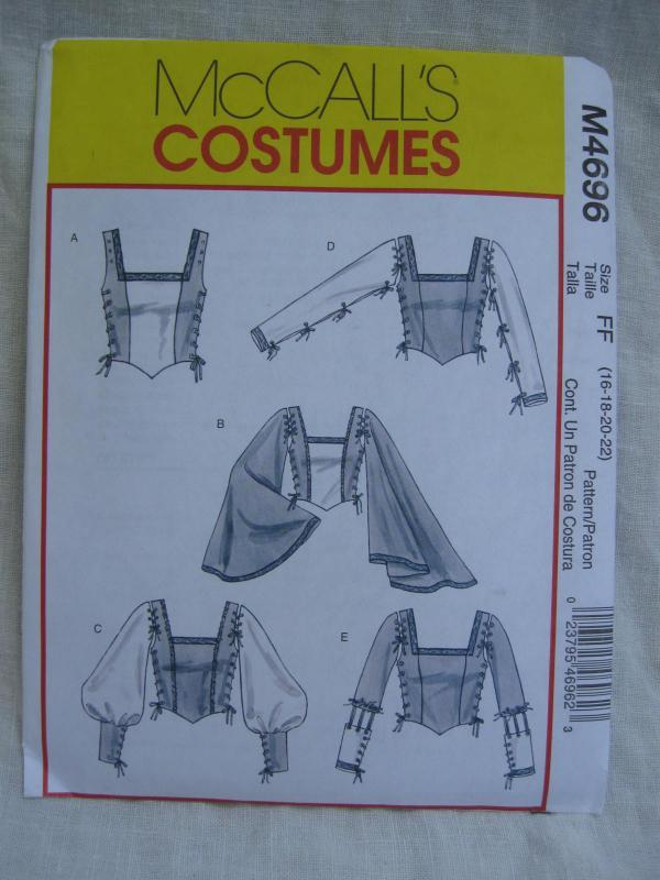 New McCalll's m4696 4696 Misses' Blouse Top Renaissance Medieval Juliet Halloween Costume Sewing Pattern Size 16 18 20 22