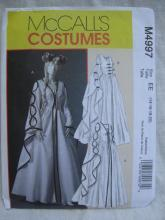 New McCalll's m4997 4997 Misses' Dress Renaissance Medieval Juliet Halloween Costume Sewing Pattern Size 14 16 18 20