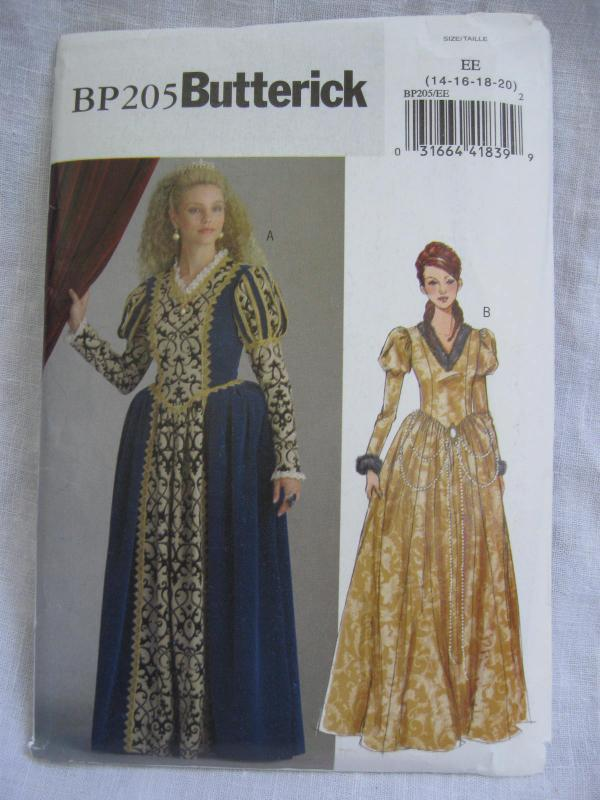 New Butterick BP205 205 Misses' Princess Dress Renaissance Medieval Juliet Halloween Costume Sewing Pattern Size 14 16 18 20