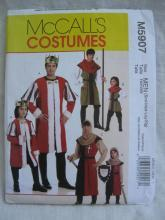 New McCall's M5907 5907 Men's Top  Renaissance Medieval King Robin Hood Archer Halloween Costume Sewing Pattern Size S  M L XL