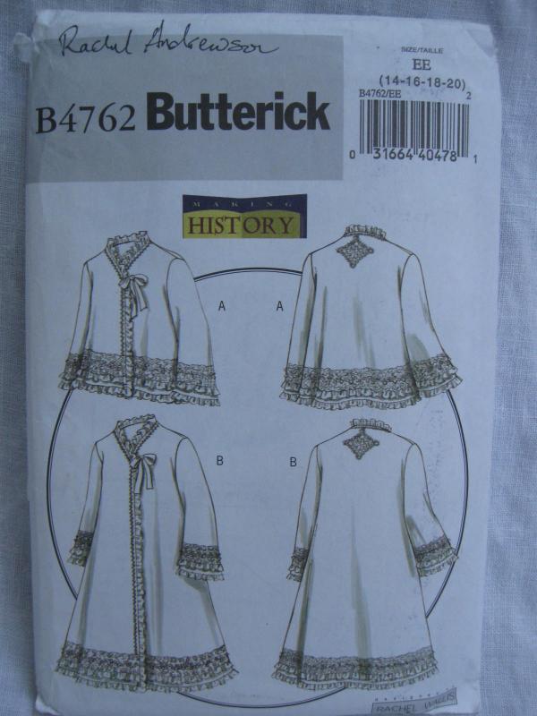 New Butterick B4762 4762 Misses' Jacket Coat  Civil Wart Halloween Costume Sewing Pattern Size 14 16 18 20