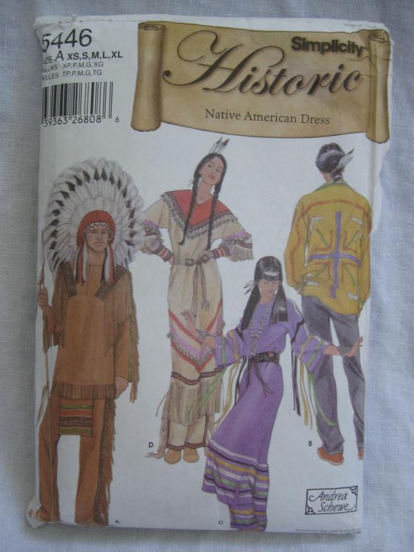 New Simplicity 5446 Misses'  Men's Teens Native American Indian Halloween Costume Sewing Pattern Size XS S M L XL