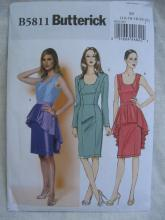 New Butterick B5811 5811 Misses' Fitted Dress & Peplum Sewing Pattern Size 14 16 18 20 22