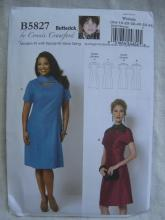New Butterick B5827 5827 Women's  Loose Fitting Dress Sewing Pattern Size Xxl 1X 2X 3X 4X 5X 6X
