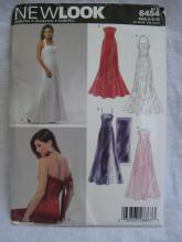 New Look 6454 Misses' Princess Seamed Evening Dress With Flare & Stole Sewing Pattern Size 8 10 12 14 16 18