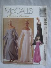 New McCall's 3535 Misses' Floor Length Empire Bridal Evening Elegance Prom Dress Sewing Pattern Size 16 18 20 22