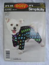 Simplicity E2082 2082 Dog Coat In Three Sizes Sewing Pattern S M L