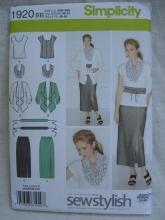 New Simplicity  1920 Women's Skirt, Scarf & Belt   Sewing Pattern Size 20W -  28W