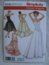 New Simplicity  5006 Misses' Lingerie Corset Petticoat Sewing Pattern Size 10 12 14 16 18