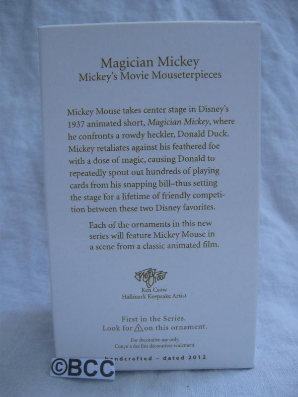 Hallmark 2012 Magician Mickey 1st In Series Christmas Tree Ornament Disney