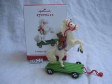 Hallmark 2013 A Pony For Christmas Speicial Premiere Event Limited Quantity Repaint Keepsake Ornament