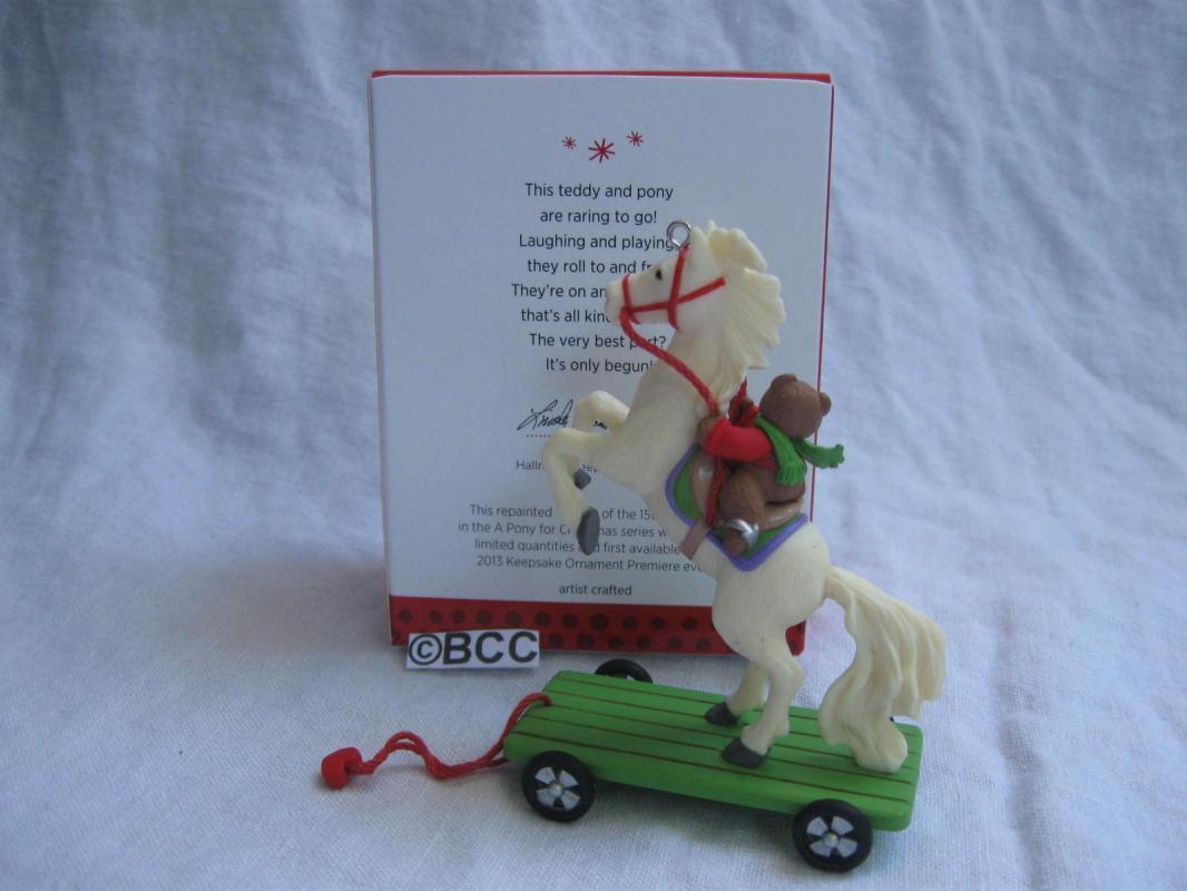 Hallmark 2013 A Pony For Christmas Speicial Premiere Event Limited Quantity Repaint Keepsake Ornament