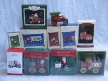 Hallmark Lot Of 11 Here Comes Santa Christmas Keepsake Ornaments