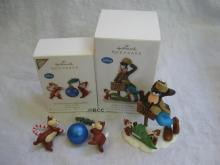 Hallmark 2010 2012 O Christmas Chipmunks Half ​Off Hijinks Disney Goofy Chip N Dale Ornaments