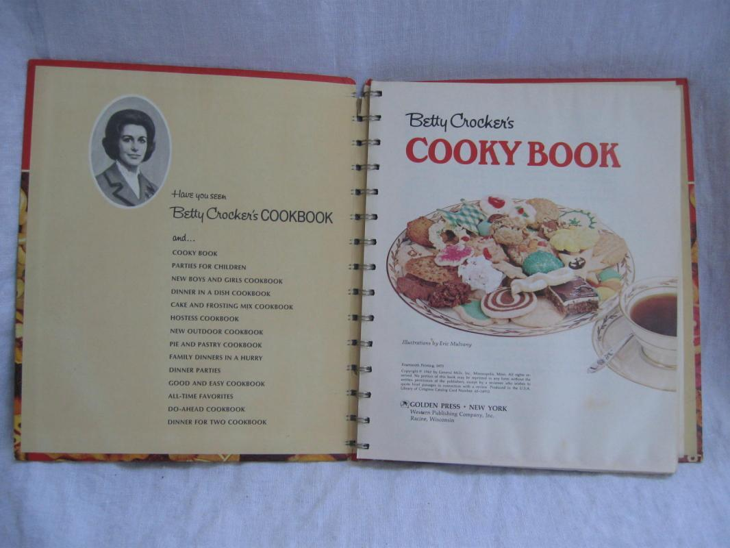 Betty Crocker's Cooky Cookie Book Cookbook Copyright 1963 14th Printing 1973