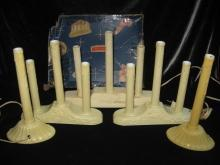 5 Sets of Vintage Candolier Candle Christmas Lights Noma Royalite