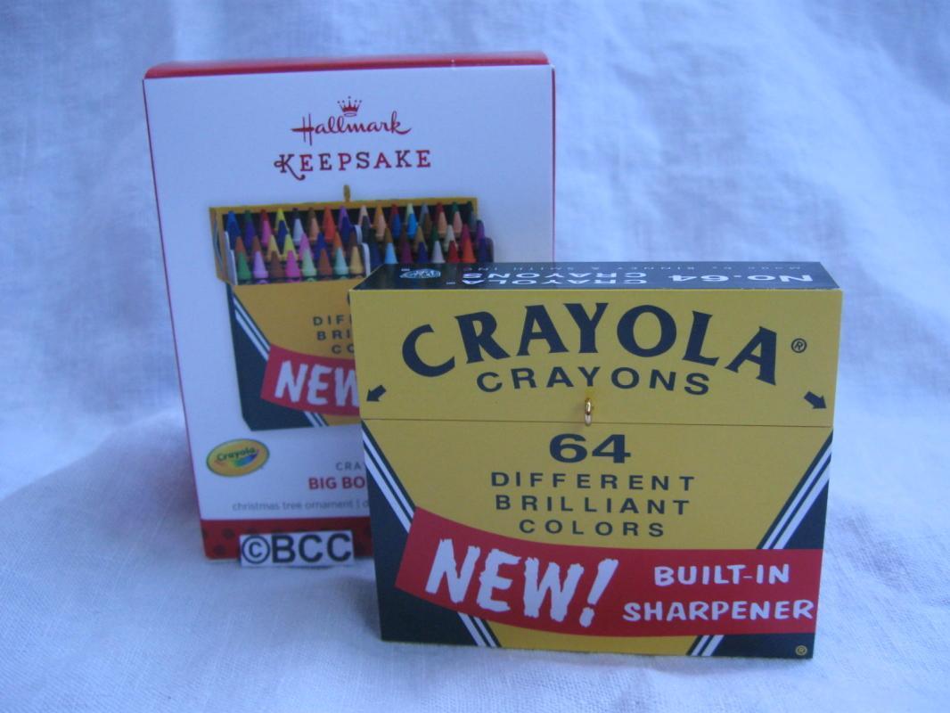 Hallmark 2013 Big Box Of 64 Crayola Crayons Keepsake Christmas Tree Ornament