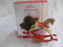 Hallmark 2013 40 Years Of Memories Rocking Horse Gold Crown Exclusive Keepsake Christmas Tree Ornament