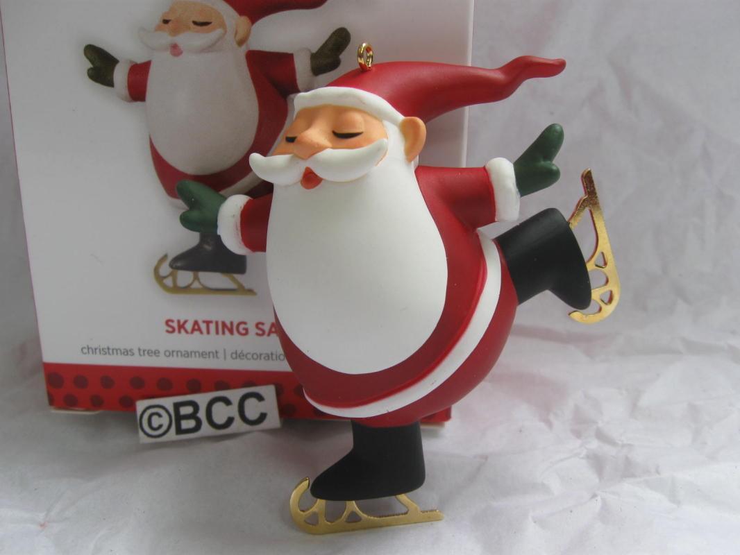 Hallmark 2013 Skating Santa Exclusive VIP Christmas Tree Ornament