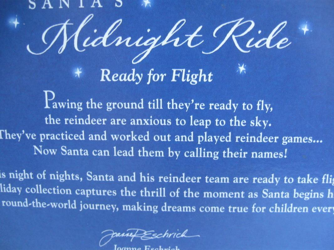 Hallmark 2005 Santa's Midnight Ride Ready For Flight Set of 2 Keepsake Christmas Tree Ornaments