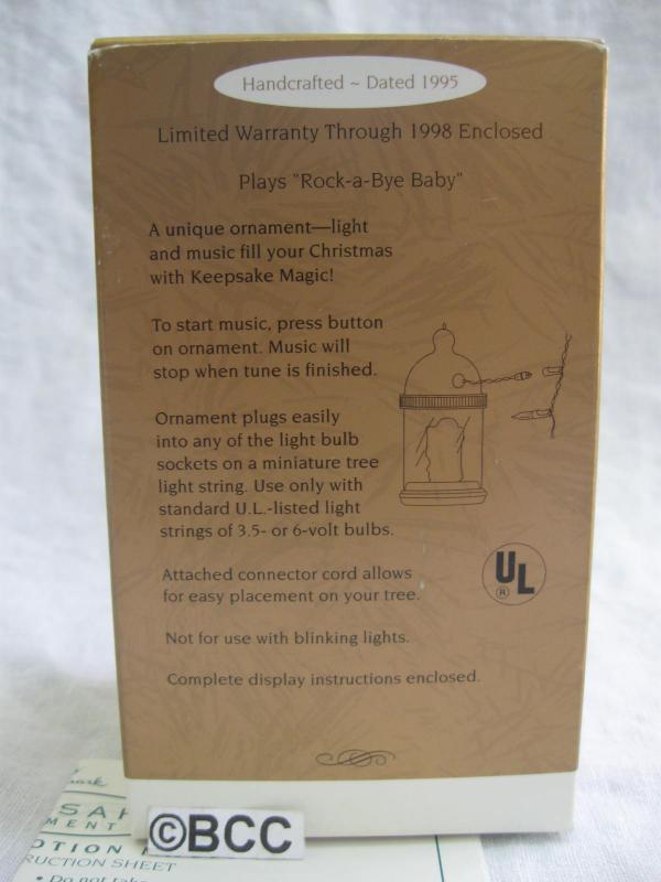 Hallmark 1995 Baby's First Christmas Baby Bottle Keepsake Christmas Tree Ornament