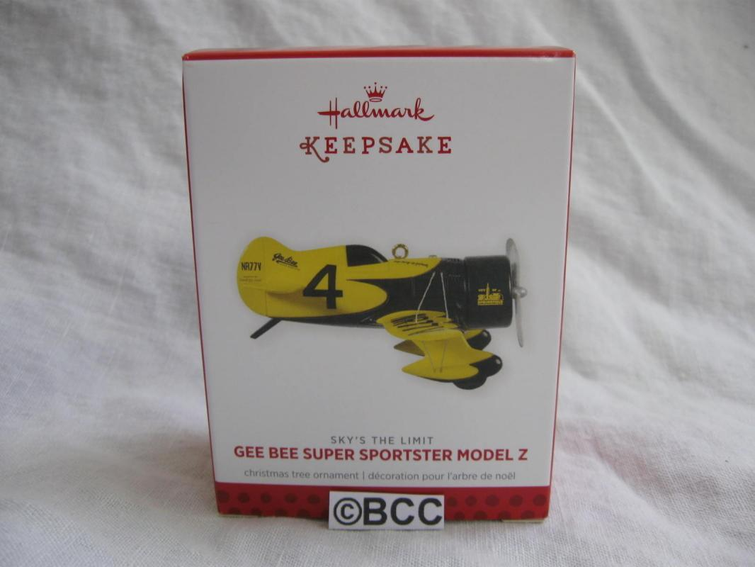 Hallmark 2013 Gee Bee Super Sportster Model Z #17  Sky's The Limit Ornament Airplane