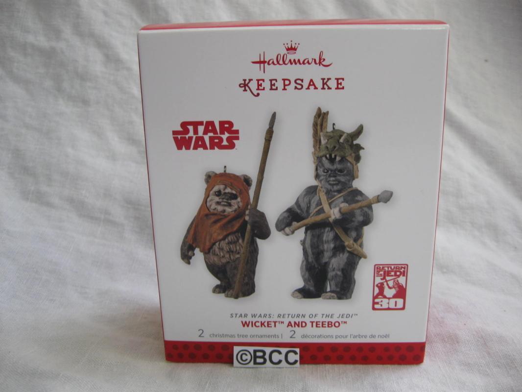 Hallmark 2013 Star Wars Return of the Jedi Wicket & Teebo Set Of 2 Ornaments