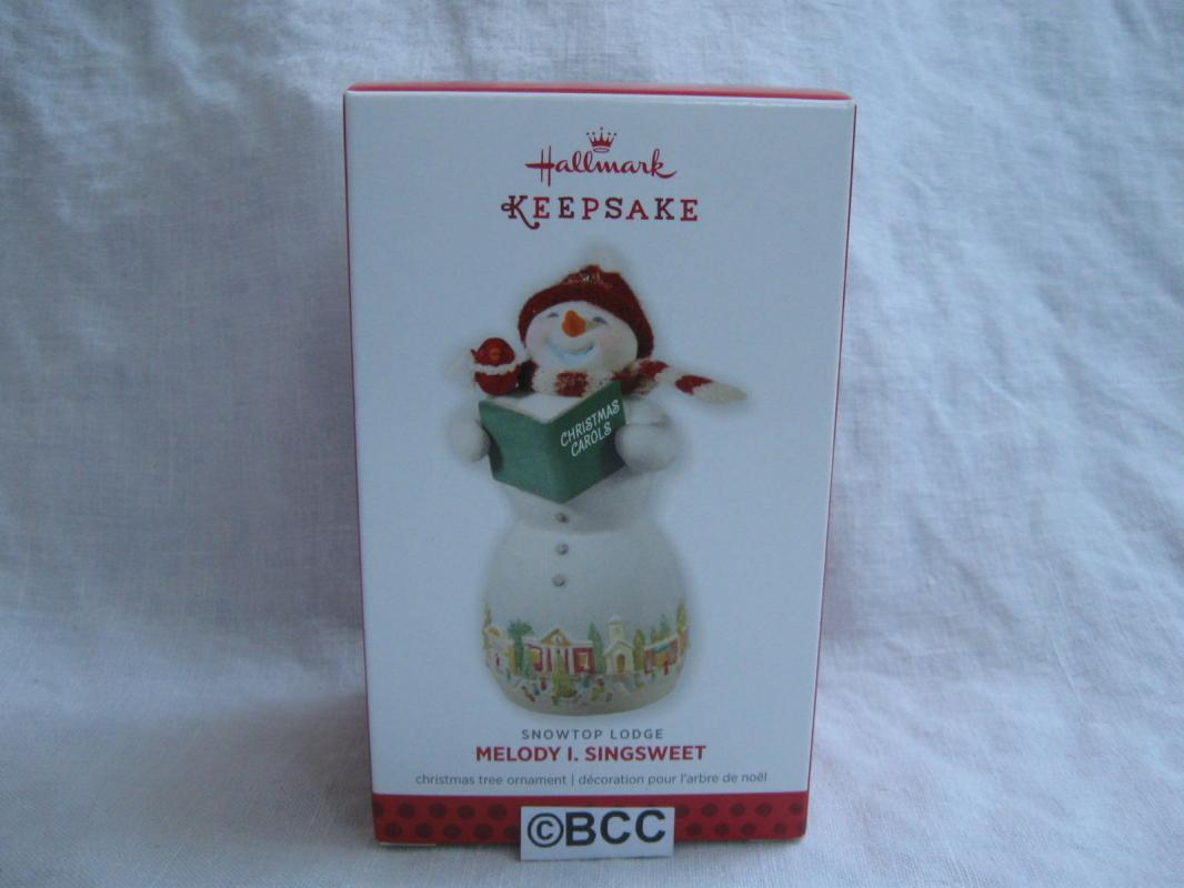 Hallmark 2013 Melody I. Singsweet #9 In Snowtop Lodge Series Porcelain Ornament