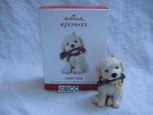 Hallmark 2013 Puppy Love #23 In Series Puppy Dog Christmas Tree Ornament