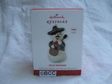 Hallmark 2013 Feliz Navidad Mariachi Snowman Magic Sound Christmas Ornament
