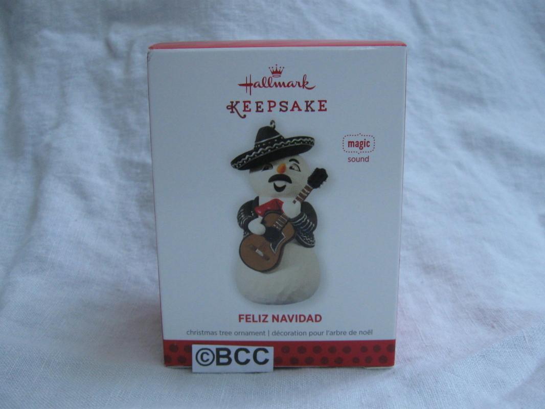 Hallmark 2013 Feliz Navidad Mariachi Snowman Magic Sound Christmas Ornament