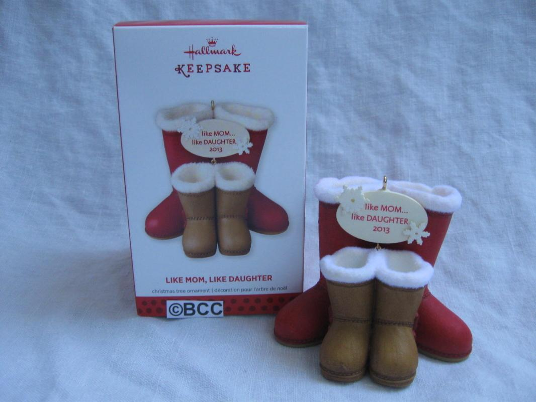 Hallmark 2013 Like Mom Like Daughter Winter Snow Boots Christmas Ornament
