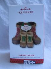 Hallmark 2013 Like Dad Like Son Winter Snow Boots Christmas Ornament