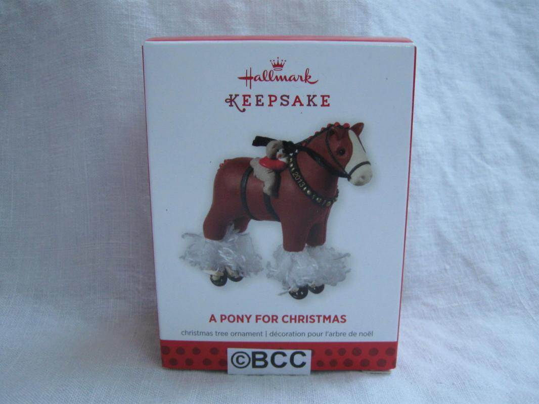 Hallmark 2013 A Pony For Christmas #16 Clydesdale Christmas Ornament