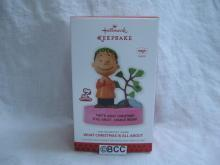 Hallmark 2013 What Christmas Is All About Peanuts Linus Magic Sound ChristmasOrnament