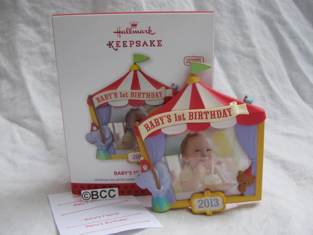 Hallmark 2013 Baby's First 1st Birthday Christmas Tree Ornament