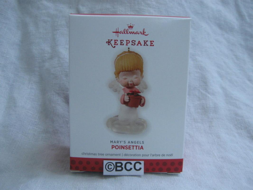 Hallmark 2013 Poinsettia 26th In Mary's Angels Series Christmas Ornament