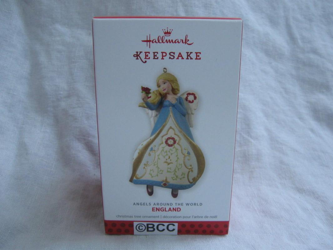 Hallmark 2013 England 3rd In Angels Around The World Series Christmas Ornament