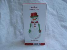 Hallmark 2013 Kiss The Cook Snow Lady Kitchen Utensils Christmas Ornament