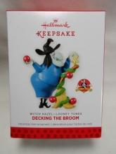 Hallmark 2013 Decking the Broom Witch Hazel Looney Tunes Christmas Premiere Event Ornament