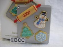 Hallmark 2009 Season's Treatings Christmas Cookie Sheet Christmas Tree Ornament  Baking Cookies  Seasons Treatings