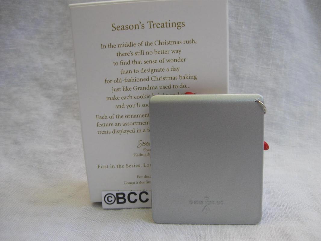 Hallmark 2009 Season's Treatings Christmas Cookie Sheet Christmas Tree Ornament  Baking Cookies  Seasons Treatings