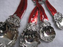 Ganz Set of Four Christmas Red Santa Hat Measuring Spoons