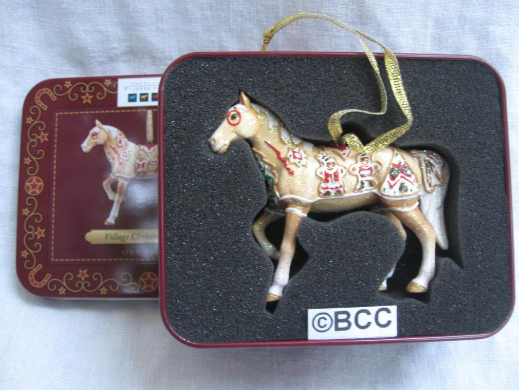 Trail of Painted Ponies Village Christmas Cookie Ornament Decorative