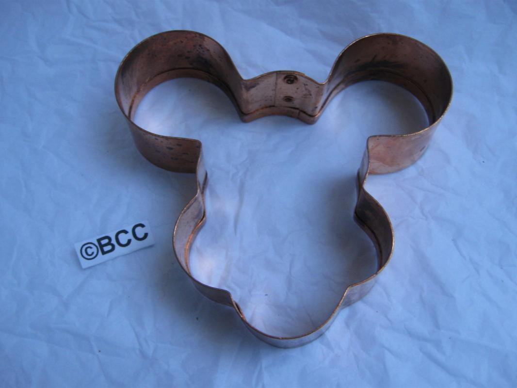 Mickey Mouse  Copper  Cookie Cutter