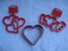 Wilton 3 Fancy Valeintine Hearts Valentine's Day Cookie Cutters Love Triple