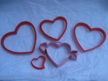 5 Wilton Hallmark Heart Arrow Valeintine Hearts Valentine's Day Cookie Cutters