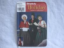 New OOP  Dickens Carolers Costume Simplicity 8910 Sewing Pattern XS-XL 4851 5418